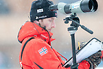 MARTELL-VAL MARTELLO, ITALY - FEBRUARY 02: Norwegian coach during the Women 7.5 km Sprint at the IBU Cup Biathlon 6 on February 02, 2013 in Martell-Val Martello, Italy. (Photo by Dirk Markgraf)