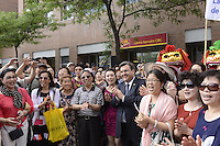 Montreal, CANADA - June 18, 2105<br /> <br /> Mayor Denis  Coderre attend a ceremony in Montreal's Chinatown, June 18, 2015.<br /> <br /> Photo : Claire Rutz - Claire Rutz