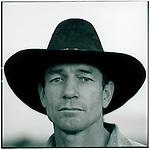 JULY 1995    -  ROCKHAMPTON, Australia   -   John Rott Cattleman with one of his horses. John has over a  1000 acre cattleranch with an airstrip and two houses. Rockhampton is the Beef capital of Australia. .
