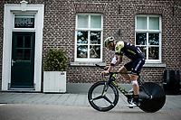 Roger Kluge (DEU/Mitchelton Scott) on his way to the pre race recon.<br /> <br /> Binckbank Tour 2018 (UCI World Tour)<br /> Stage 2: ITT Venray (NL) 12.7km