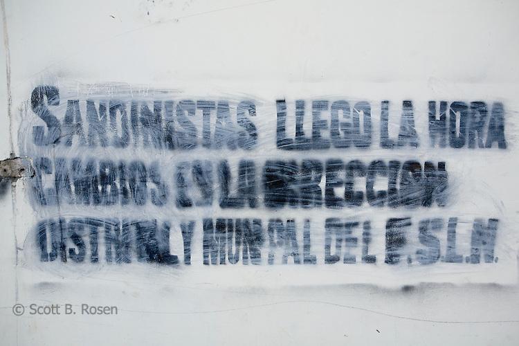 Current Sandinista grafitti and propaganda, Leon, Nicaragua