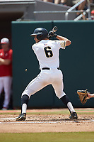 Trey Martin (6) of the Army Black Knights at bat against the North Carolina State Wolfpack at Doak Field at Dail Park on June 3, 2018 in Raleigh, North Carolina. The Wolfpack defeated the Black Knights 11-1. (Brian Westerholt/Four Seam Images)
