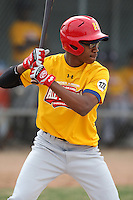 January 16, 2010:  Kenny Peoples (Los Angeles, CA) of the Baseball Factory California Team during the 2010 Under Armour Pre-Season All-America Tournament at Kino Sports Complex in Tucson, AZ.  Photo By Mike Janes/Four Seam Images