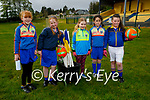 Enjoying their return to juvenile football training in Ballymac on Sunday morning, l to r: Amy O'Rourke, Caoimhe Leen, Ruby Sugrue, Lucy O'Connor and Milly Sheehan.