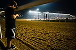DUBAI, UAE - MARCH 23: Bode Baffart (son of Trainer Bob Baffart), at the Meydan Race Track in preparation for the Dubai World Cup Race on March 23, 2017 in Dubai, UAE. (Photo by Douglas DeFelice/Eclipse Sportswire/Getty Images)
