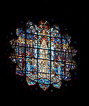 """East Liberty section of Pittsburgh PA:  View of the New Jerusalem Window in the East Transept.  This image is included in the book; """"The Art and Architecture of the East Liberty Presbyterian Church"""". This window was designed by D'Ascenzo Studios of Philadelphia."""