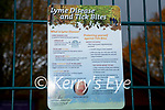 The new Lyme Disease warning sign erected at Killarney Playground on Tuesday
