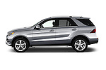 Car Driver side profile view of a 2017 Mercedes Benz GLE-Class GLE300d 5 Door SUV Side View