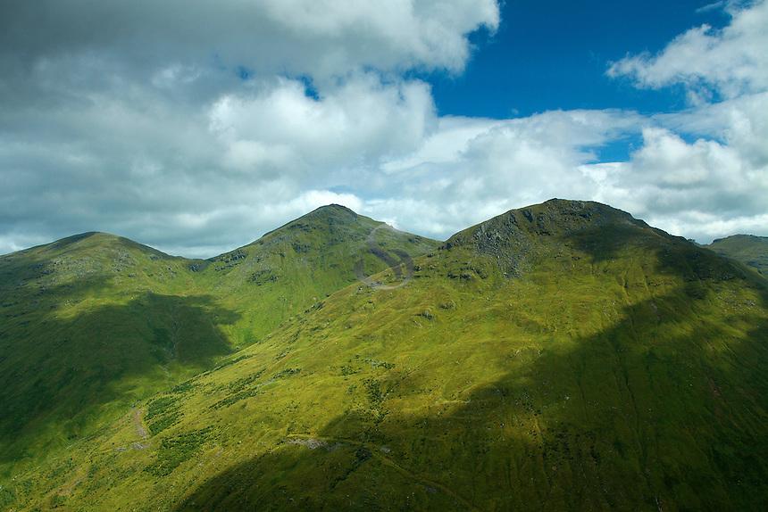 Ben Ime and Beinn Luibhean from Beinn an Lochain, the Arrochar Alps, Argyll & Bute