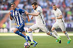 Nacho Fernandez (r) of Real Madrid competes for the ball with Victor Camarasa Ferrando of Deportivo Alaves during their La Liga match between Real Madrid and Deportivo Alaves at the Santiago Bernabeu Stadium on 02 April 2017 in Madrid, Spain. Photo by Diego Gonzalez Souto / Power Sport Images