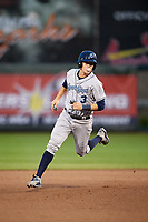 Corpus Christi Hooks designated hitter Trent Woodward (3) runs the bases during a game against the Springfield Cardinals on May 31, 2017 at Hammons Field in Springfield, Missouri.  Springfield defeated Corpus Christi 5-4.  (Mike Janes/Four Seam Images)