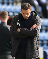 1st May 2021; Deepdale Stadium, Preston, Lancashire, England; English Football League Championship Football, Preston North End versus Barnsley; Barnsley manager Valerien Ismael looks to the floor as his team trail 2-0 during the second half