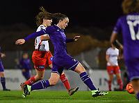 Tine De Caigny (6) of Anderlecht pictured in action during a female soccer game between RSC Anderlecht Dames and SV Zulte Waregem on the 10 th matchday of the 2020 - 2021 season of Belgian Womens Super League , friday 18 th of December 2020  in Tubize , Belgium . PHOTO SPORTPIX.BE | SPP | DAVID CATRY