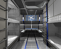 This is the final model of the crew living quarters.