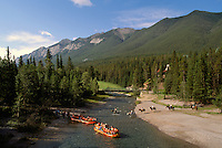 Banff National Park, Canadian Rockies, AB, Alberta, Canada - Spray River, Rafting and Horseback Riding, Rocky Mountains, Summer