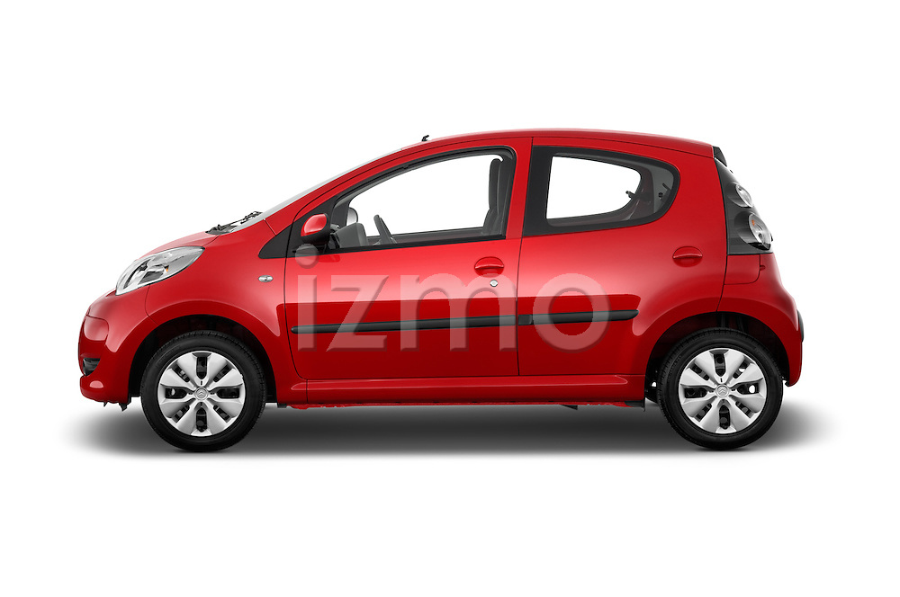 Driver side profile view of a 2009 - 2012 Citroen C1 Airplay 5-Door Micro Car Hatchback