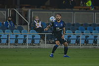 SAN JOSE, CA - SEPTEMBER 13: Guram Kashia #37 of the San Jose Earthquakes controls the ball during a game between Los Angeles Galaxy and San Jose Earthquakes at Earthquakes Stadium on September 13, 2020 in San Jose, California.