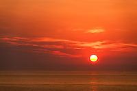 Sunrise over the ocean, Cape Cod, Massachusetts, USA