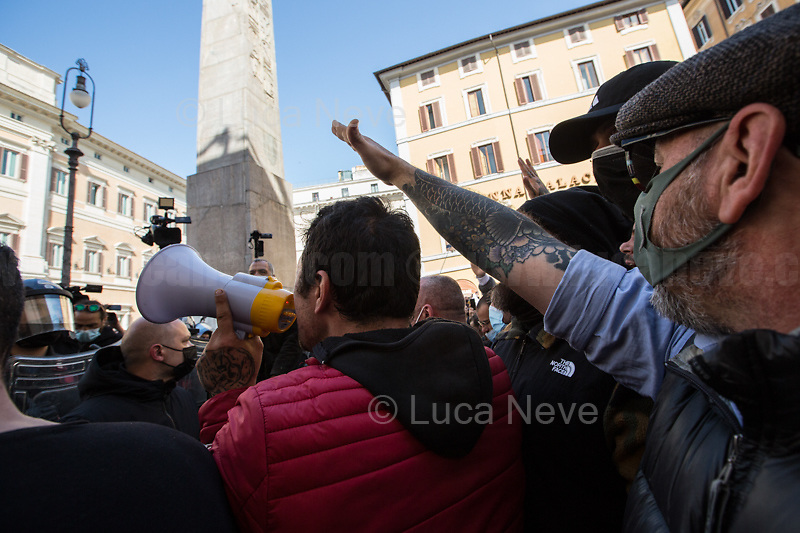fascist/roman salute is illegal in Italy.<br />