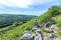 France, Cote d'Or, Val Suzon  Regional Natural Reserve, Messigny et Vantoux, Foret Domaniale de Val Suzon, viewpoint from a trail // France, Côte d'Or (21), réserve Naturelle Régionale du Val-Suzon, Messigny-et-Vantoux, forêt domaniale de Val-Suzon, point de vue depuis un sentier de randonnée