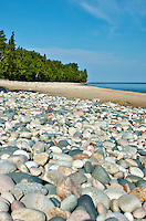 A beautiful, secluded beach within the Pictured Rocks National Lakeshore.