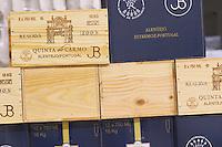 Bottles stored in the cellar. Quinta do Carmo, Estremoz, Alentejo, Portugal