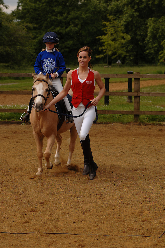 Tpt retro set found dead today <br /> Tara Palmer Tompkinson<br /> launches the Petplan Equine National Riding Festival, Hyde Park, London