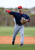 March 22, 2010:  Second Baseman Jeff Kobernus of the Washington Nationals organization during Spring Training at the Carl Barger Training Complex in Melbourne, FL.  Photo By Mike Janes/Four Seam Images
