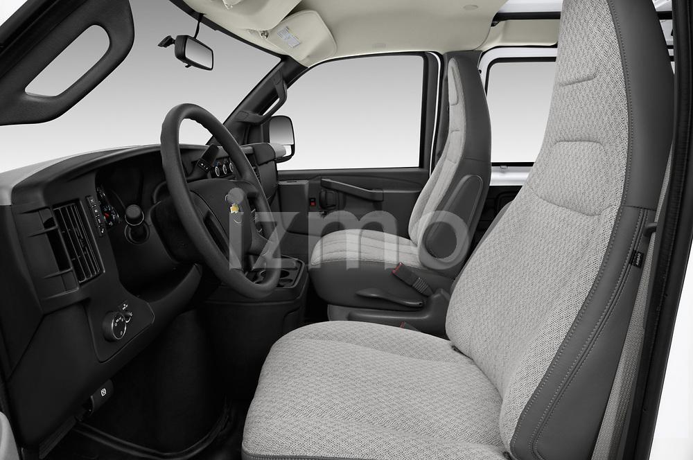 Front seat view of a 2018 Chevrolet Express 3500 3500 Extended Work Van 4 Door Cargo Van front seat car photos