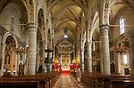 Italy, Lombardia, Salò: cathedral Santa Maria Annunziata, late gothic | Italien, Lombardei, Gardasee, Salò: der Dom Santa Maria Annunziata, Spaetgotik