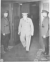 Winston Churchill at The Postdam conference, May  15 to 17, 1945