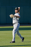 Dayton Dragons pitcher Patrick McGuff (30) throwing in the outfield before a game against the Lansing Lugnuts at Cooley Law School Stadium on August 10, 2018 in Lansing, Michigan. Lansing defeated Dayton 11-4.  (Robert Gurganus/Four Seam Images)