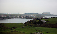 The Wylfa Power Station as seen from Cemaes, north Wales, UK. Sunday 30 October 2016