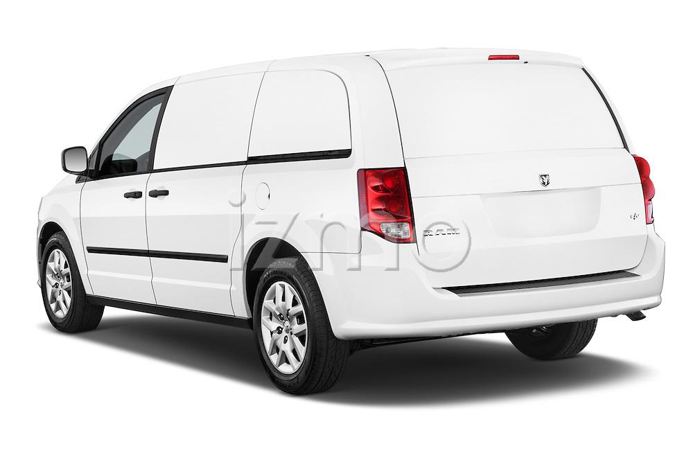 Car pictures of rear three quarter view of a 2014 Ram Ram Cargo Van Tradesman 4 Door Cargo Van Angular Rear