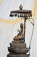 Kathmandu, Nepal.  Swayambhunath Temple, Tara Making the Gesture of Charity, an Upturned Palm.