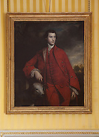 A portrait of Charles, 3rd Duke of Richmond, 1758 by Sir Joshua Reynolds hangs in the yellow drawing room