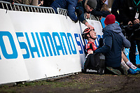 Toon Vandebosch (BEL/Pauwels Sauzen - Bingoal) exhausted after winning the men's U23 race and becoming Belgian National Champion CX U23<br /> <br /> Men's U23 race<br /> Belgian National CX Championships<br /> Antwerp 2020