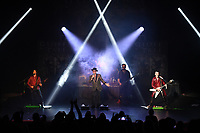 """FORT LAUDERDALE FL - SEPTEMBER 24: Alex Hart, Jack Ross, Geoff Tate, Daniel Laverde and Kieran Robertson of the Geoff Tate band perform during """"Rage For Order"""" and """"Empire"""" in their entirety at The Broward Center for the Performing Arts on September 24, 2021 in Fort Lauderdale, Florida. Credit: mpi04/MediaPunch"""