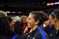 New Orleans, LA - Thursday October 19, 2017: Carli Lloyd during an International friendly match between the Women's National teams of the United States (USA) and South Korea (KOR) at Mercedes Benz Superdome.
