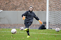 Goalkeeper Ambre Collet (1 Charleroi) during the warm up before a female soccer game between FC Femina White Star Woluwe and Sporting Charleroi on the 10 th matchday of the 2020 - 2021 season of Belgian Scooore Womens Super League , Saturday 19 th of December 2020  in Woluwe , Belgium . PHOTO SPORTPIX.BE | SPP | SEVIL OKTEM