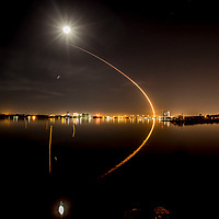 Falcon 9 Nighttime Rocket Launch, March 6, 2018