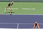 Veronika Kudermetova (RUS) & Elena Rybakina (KAZ) were defeated by Su-Wei Hsieh (TPE) & Elise Mertens (BEL) 6-7 (1-7), 3-6, at the BNP Paribas Open being played at Indian Wells Tennis Garden in Indian Wells, California on October 16,2021: ©Karla Kinne/Tennisclix/CSM