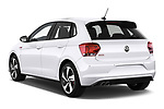 Car pictures of rear three quarter view of a 2018 Volkswagen Polo GTI 5 Door Hatchback angular rear
