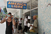 A recently opened free store in Havana. This kind of store offers imported good freely