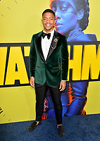 """LOS ANGELES, USA. October 15, 2019: Steven Norfleet at the premiere of HBO's """"Watchmen"""" at the Cinerama Dome, Hollywood.<br /> Picture: Paul Smith/Featureflash"""