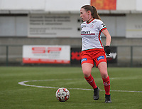 Noa Delhaye (12) of Zulte-Waregem  pictured during a female soccer game between SV Zulte - Waregem and Club Brugge YLA on the 13 th matchday of the 2020 - 2021 season of Belgian Scooore Womens Super League , saturday 6 th of February 2021  in Zulte , Belgium . PHOTO SPORTPIX.BE   SPP   DIRK VUYLSTEKE
