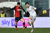 Takehiro Tomiyasu of Bologna Fc and Eldor Shomurodov of Genoa CFC compete for the ball  during the Serie A football match between Genoa CFC and Bologna FC at Marassi Stadium in Genova (Italy), January 10th, 2021. Photo Daniele Buffa / Image Sport / Insidefoto
