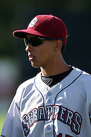 Mahoning Valley Scrappers shortstop Kevin Fontanez (17) during a game vs. the Jamestown Jammers at Russell Diethrick Park in Jamestown, New York June 20, 2010.   Mahoning Valley defeated Jamestown 9-2.  Photo By Mike Janes/Four Seam Images