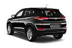 Car pictures of rear three quarter view of 2018 Hyundai Tucson SE 5 Door Suv Angular Rear