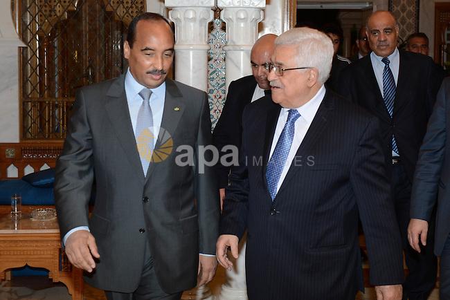 Palestinian President Mahmoud Abbas (Abu Mazen) meets with Mauritanian President in Tunisia, on Jan. 13, 2013. Photo by Thaer Ganaim